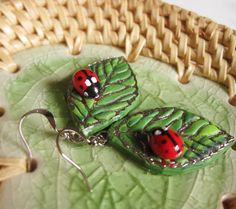 cute ladybug earrings ...