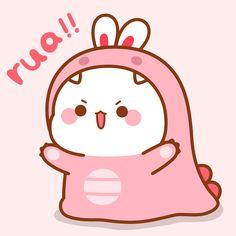 Cute Bunny Cartoon, Cute Cartoon Pictures, Cute Images, Cool Wallpapers For Phones, Cute Cartoon Wallpapers, Animes Wallpapers, Phone Wallpapers, Chibi Cat, Cute Chibi