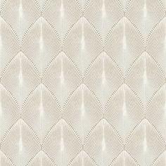 Rasch Yucatán Geometric Fan Effect Taupe/Cream Metallic Wallpaper - 535815