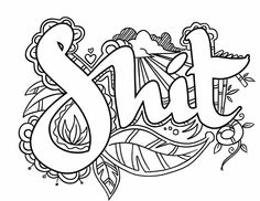 find this pin and more on curse words coloring by suzyq729 - Word Girl Coloring Pages