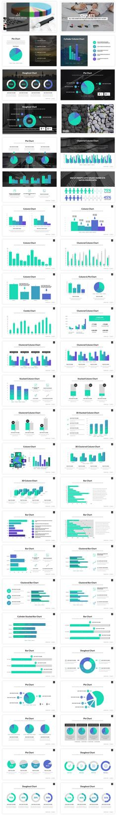A great collection of chart slides, you can use them to make great reports and improve your Google Slides presentation. All charts are easy to edit, they are Google Slides shapes! Attract and impress your audience with this amazing, creative, and modern presentation that contains the most useful chart slides, this template is so easy to edit, just a few clicks and you will be ready. This template contains all the slides you need to make a great report!! This template is easy to use and… Marketing Presentation, Presentation Layout, Presentation Templates, Keynote, Layout Design, Charts, Improve Yourself, Business, Amazing