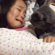 "So tender and sweet. He's so concerned for her and trying to make things better. My cats would do this whenever I cried, too. They have empathy. ....""Funny Cat Gifs And Animations 