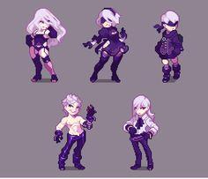 Sprites, Cool Pixel Art, Anime Pixel Art, Character Concept, Character Art, Pixel Life, Pix Art, Pixel Characters, Pixel Animation