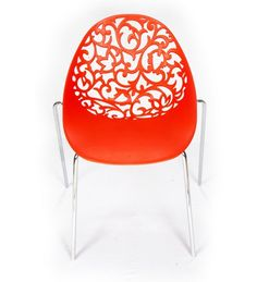 Ventura 152_Red Plastic Chair (Red): Amazon.in: Home & Kitchen