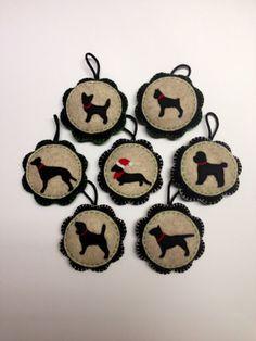 Custom Handstitched Felt Ornaments / Keepsakes by CheekyChickabees