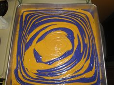 Tiger stripes (LSU alums) for the bottom tier of the wedding cake.