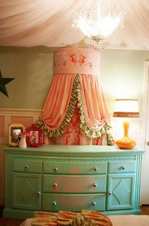 love this dresser probably with a mirror over it instead though and coral decoration on it for a baby girl