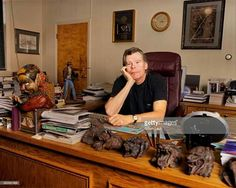 Stephen King at his desk                                                                                                                                                                                 More