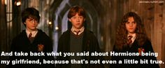 Of course he was the only one who even cared that Draco said that :)
