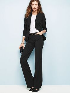 The Christie Flare Pant in Seasonless Stretch -- business suit for formal/business engagements
