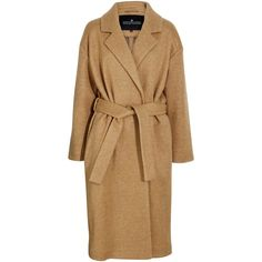 Designers Remix Panda coat with belt (29.680 RUB) ❤ liked on Polyvore featuring outerwear, coats, jackets, nude, belt coat, belted coat, coat with belt, designers remix and brown coat