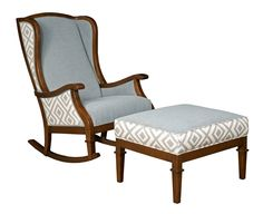 A personal favorite from my Etsy shop https://www.etsy.com/listing/204882562/tori-rocker-and-ottoman-set-pale-gray