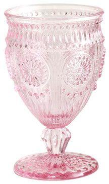 Rosanna Parisian Glassware, Pink - modern - glassware - Layla Grayce