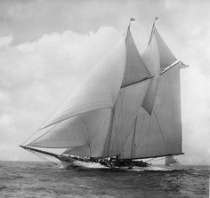 The 19th-century racing yacht, America, from the New York Yacht Club won the first Cup in 1851.