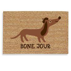 Bone Jour doormat. I must have this. Must.