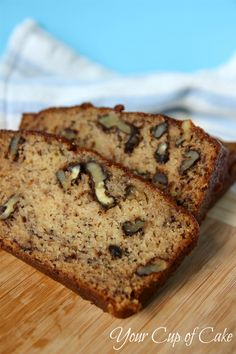Best Banana Bread. Forget all the other 2000 recipes out there for Banana Bread...this is the keeper. If you don't have buttermilk, simply add a tsp vinegar to milk. If you don't have applesauce, increase the oil. Be sure to add the walnuts. Superb.