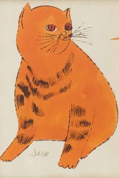 Andy Warhol | Sam the Cat | orange