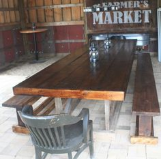 Our Second Barn Trestle Table  Made From Old Barn Rafter Wood