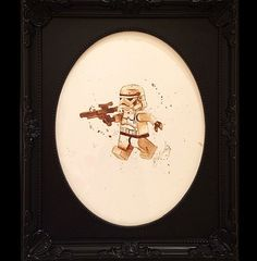 Lego Stormtrooper - Coffee Paintings Of Your Favorite Disney And Star Wars Characters! - Mindhut - SparkNotes °°