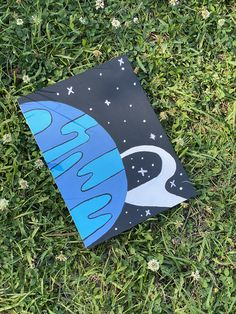 Small Canvas Paintings, Easy Canvas Art, Small Canvas Art, Cute Paintings, Mini Canvas Art, Trippy Painting, Hippie Painting, Diy Painting, Planet Painting