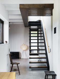 House in Gotland - love the open stairs.