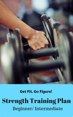 In this document you will find cardio suggestions and a 12 week, day by day beginner and intermediate strength training plan for a 4 and 5 day split with full color how to exercise instructions! Strength Training Workouts, Training Plan, Bikini Workout, Fit Chicks, Bikini Bodies, Cardio, Weight Loss, Exercise, Gym