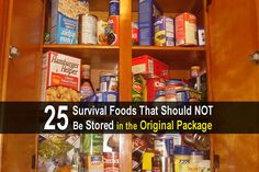 A delicious meal or snack can really boost your morale. That's why you need some variety in your food storage. Here are 14 foods you might have forgotten. Urban Survival, Survival Food, Survival Prepping, Emergency Preparedness, Survival Skills, Doomsday Prepping, Emergency Food, Survival Quotes, Survival Stuff