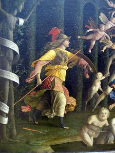 .:. - Andrea Mantegna Minerva caccia i Vizi dal Giardino delle Virtù detail - 1499 - Louvre