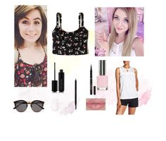 """""""Connie and Dodie"""" by ariels-kittens ❤ liked on Polyvore featuring Hollister Co., Illesteva, Ro & De, Topshop, L'Oréal Paris, Marc Jacobs and Gucci"""