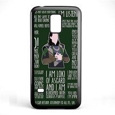 Loki Quotes TATUM-6627 Samsung Phonecase Cover Samsung Galaxy S3 Mini Galaxy S4 Mini Galaxy S5 Mini