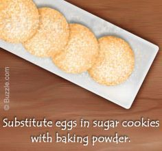 Tip To Make Sugar Cookies Without Eggs