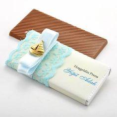 Yelken Dekorlu Lüks Bebek Çikolatası
