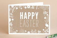 Easter Kraft Easter Greeting Cards