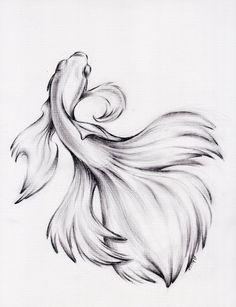 Water Dance - Original Charcoal Pencil Drawing of a Siamese/.-Water Dance – Original Charcoal Pencil Drawing of a Siamese/Betta Fighting Fish … Water Dance – Original Charcoal Pencil Drawing of a Siamese/Betta Fighting Fish – - Pencil Drawings Of Animals, Fish Drawings, Art Drawings Sketches, Colored Pencil Drawings, Beta Fish Drawing, Fish Pencil Drawing, Betta Fish Tattoo, Fish Sketch, Water Sketch