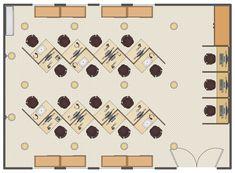 Call Center Plan Public Space Design, Office Space Design, Office Furniture Design, Office Interior Design, Workplace Design, Office Interiors, Office Layout Plan, Office Space Planning, Office Floor Plan