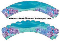 Fundo do Mar com Fundo Limpo - Kit Completo com molduras para convites, rótulos para guloseimas, lembrancinhas e imagens!