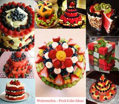 Watermelon Fruit Cake Ideas