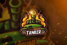 Tanker Squad - Mascot & Esport Logo by AQR Studio on Logo Design Template, Logo Templates, Esports Logo, E Sport, Game Logo, Logo Sticker, Panzer, Creative Logo, Cool Logo