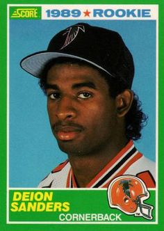 Deion Sanders Rookie Sports Card