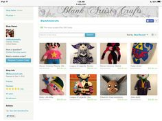 This is what my account looks like when you go on it so here is the link   https://www.etsy.com/shop/BlankArtistCrafts?ref=hdr_shop_menu