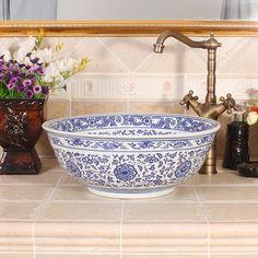 Günstige Blau Und Weiß Jingdezhen Fabrik Direkt Hand Keramik Waschbecken,  Kaufe Qualität Bad Waschbecken Direkt Vom China Lieferanten: Blau Und Weiß  ...