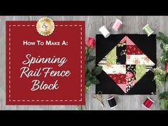 Spinning Rail Fence Flannel Quilt Kit