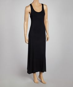 Another great find on #zulily! Black Racerback Maxi Dress #zulilyfinds