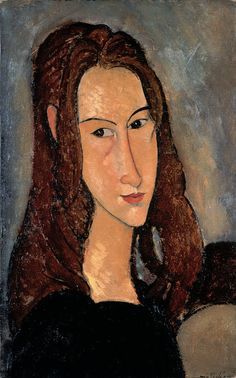 Portrait of Jeanne Hebuterne - Amedeo Modigliani - WikiArt . Amedeo Modigliani, Modigliani Paintings, Famous Art Paintings, Tableaux Vivants, L'art Du Portrait, Oil Painting Reproductions, Art Moderne, Mark Rothko, Paul Gauguin