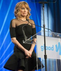 Jennifer Lawrence at the GLAAD awards. The Queen of Derp strikes again :)
