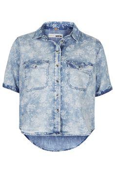 MOTO Vintage Floral Boxy Shirt - Tops - Clothing - Topshop