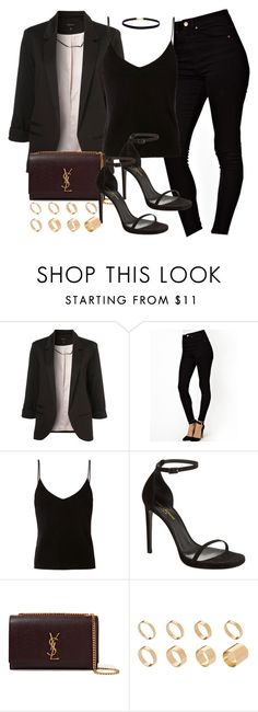 """Style #11029"" by vany-alvarado ❤ liked on Polyvore featuring Topshop, ASOS, T By Alexander Wang and Yves Saint Laurent"
