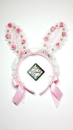 Lolita Bunny Headband Lolita by DesignsbyGitana on Etsy