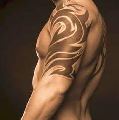 tribal design, half sleeve, placement
