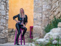 Christina #vanillapearl mit schwarzer #kunstlederhose von #arcanumfashion in #porec #kroatien Lederhosen, Croatia, Leather Pants, Sexy Women, Woman, Lady, Clothing, Outfits, Fashion